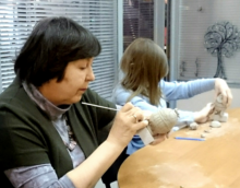 Clay modelling workshop with Vlad Ozhegov