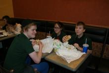 Subway restaurant - excursion for the children from the Charity Home