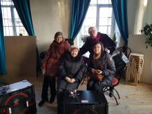 Home theater equipment for Charity Home children